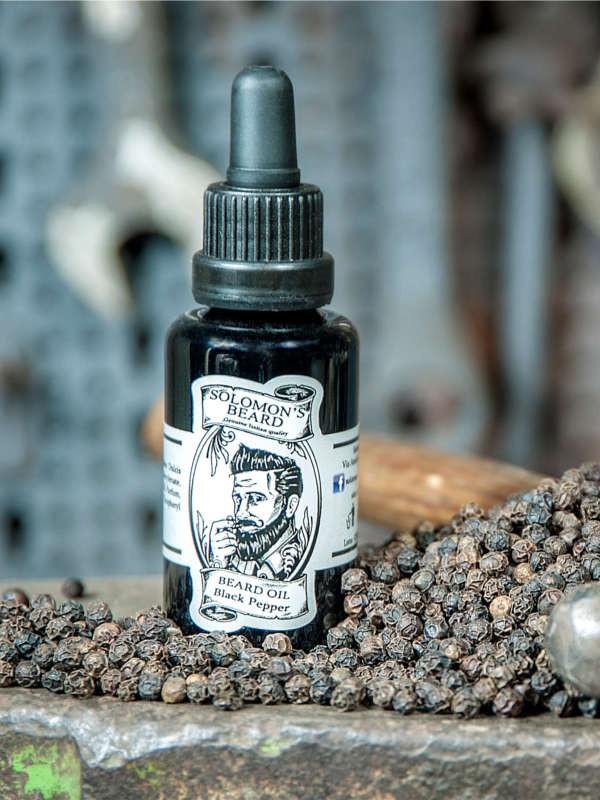Huile à barbe Solomon's Beard Black Pepper