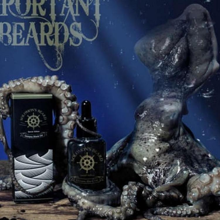 Huile à barbe Solomon's Beard Octopus Black Oil