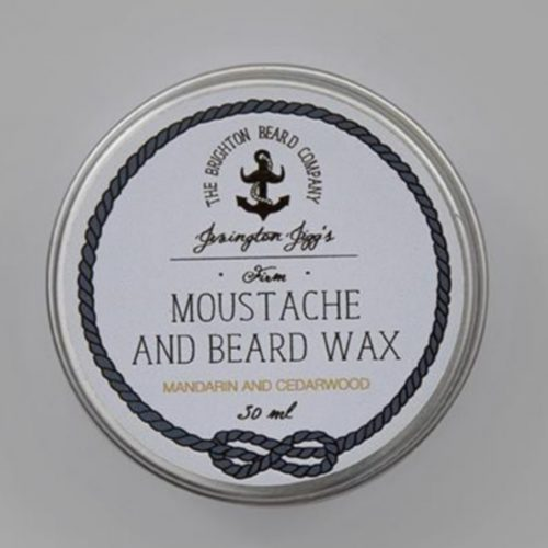 Cire à barbe mandarin and Cedarwood the Brighton Beard Company