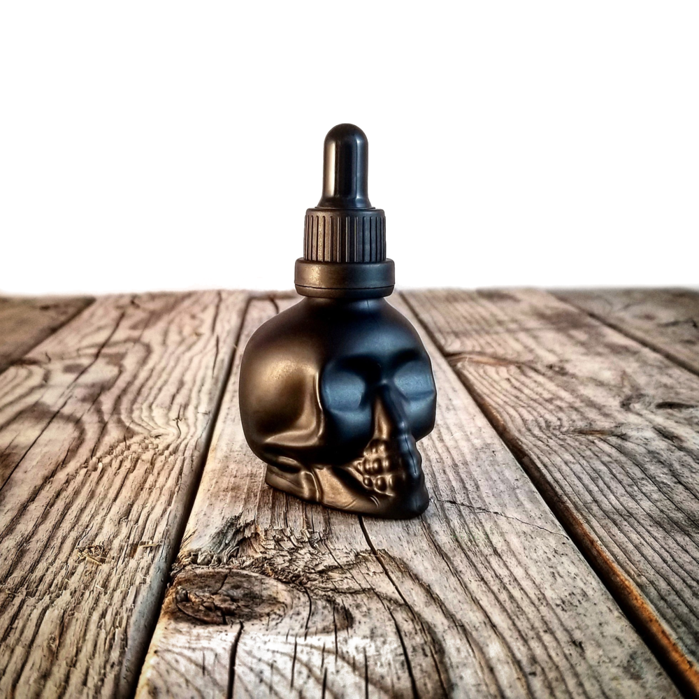 Signature Skull bottle Burnt whiskey Beard Co