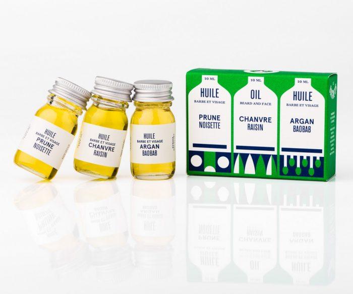 pack trois mini huiles Le baigneur