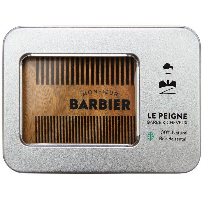 peigne à barbe en bois de santal Monsieur Barbier