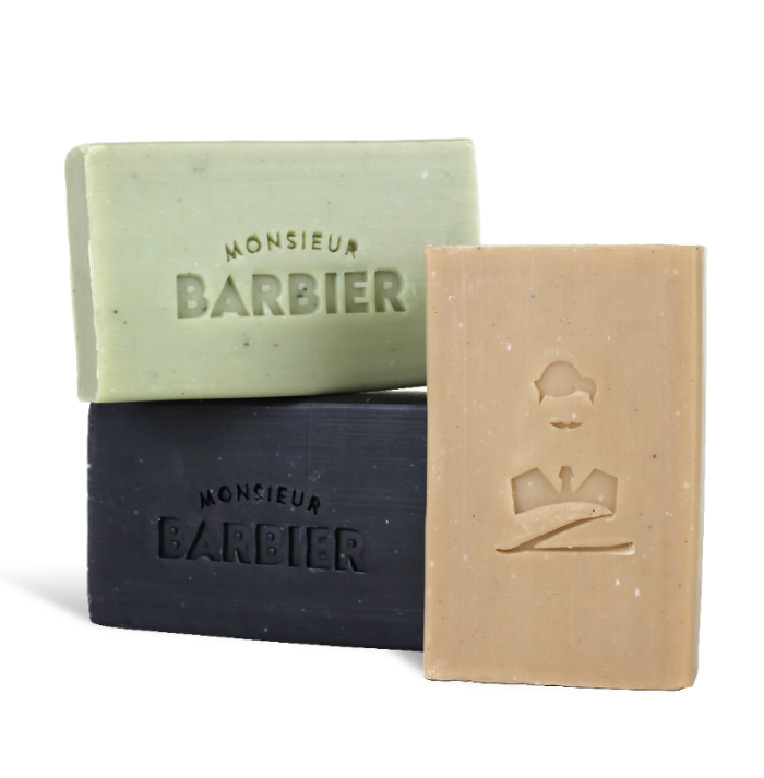 Pack Trois savons Monsieur Barbier