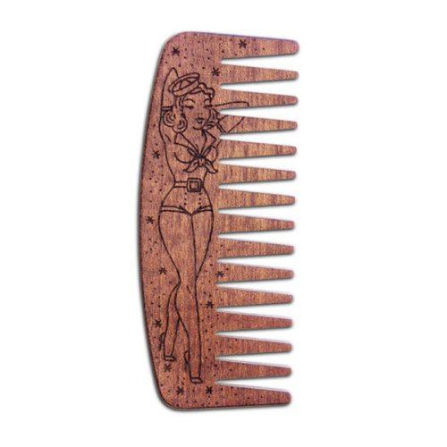 Peigne Pour Barbe N°9 SAILOR PIN UP Bois De Makoré