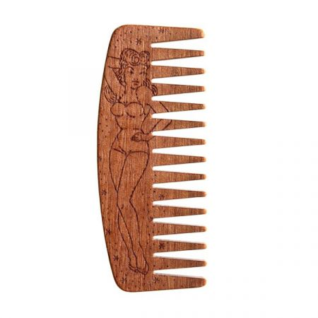 Peigne à Barbe Big Red N°9 PIN UP Bois De Makoré